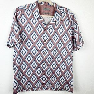 Ted Baker Diamond Print button down short sleeve